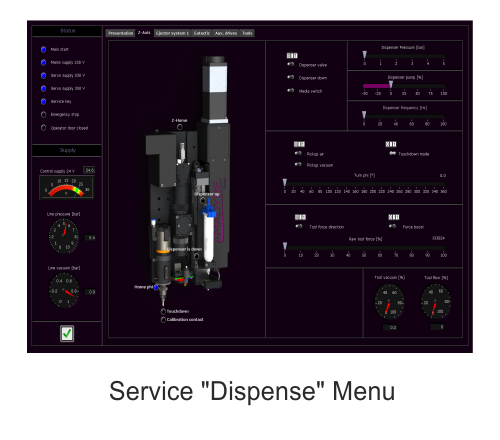 Amadyne Software Service-Dispense Menu