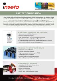Inseto Battery Fabrication Brochure