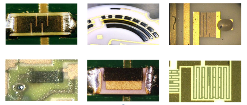 Laser Trim Examples of Trimmed Thick and Thin Film Devices