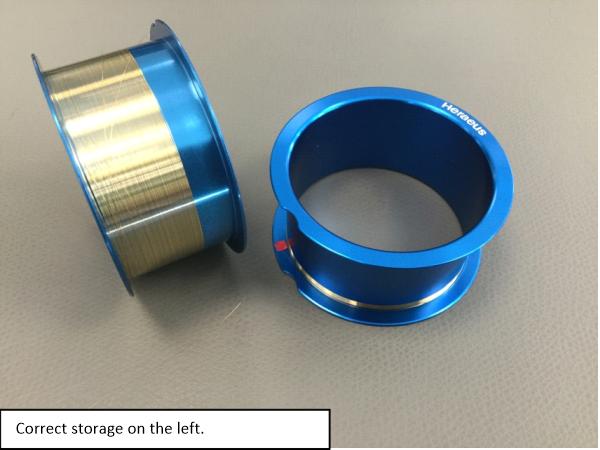 Bond Wire Spool Storage Technique