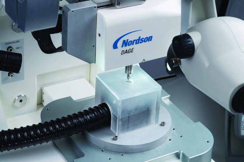 Nordson-DAGE Prospector Shear Testing devices under tempertaure control.
