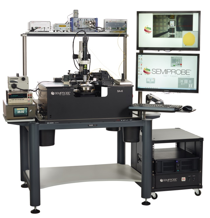 Semi-automatic equipment for 150mm wafer probe testing optoelectronic devices